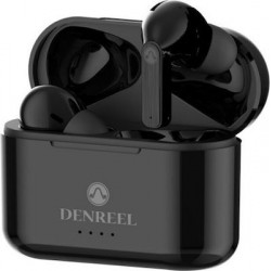 Ασύρματα ακουστικά bluetooth με βάση φόρτισης  DR12  TWS  Black